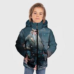 Куртка зимняя для мальчика Witcher gwent 7 цвета 3D-черный — фото 2