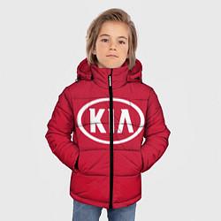 Детская зимняя куртка для мальчика с принтом KIA, цвет: 3D-черный, артикул: 10130138906063 — фото 2