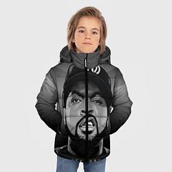 Куртка зимняя для мальчика Ice Cube: Gangsta цвета 3D-черный — фото 2