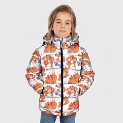 Куртка зимняя для мальчика Стикеры с лисом цвета 3D-черный — фото 2