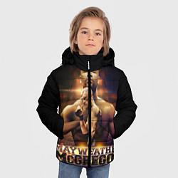 Детская зимняя куртка для мальчика с принтом Mayweather vs McGregor, цвет: 3D-черный, артикул: 10132247306063 — фото 2