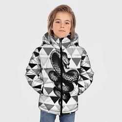 Куртка зимняя для мальчика Snake Geometric цвета 3D-черный — фото 2