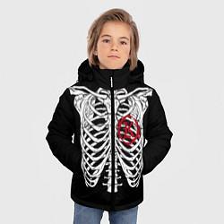 Куртка зимняя для мальчика Кукрыниксы: Скелет цвета 3D-черный — фото 2
