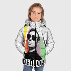 Куртка зимняя для мальчика Дельфин: Синтетика цвета 3D-черный — фото 2