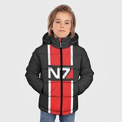 Куртка зимняя для мальчика Mass Effect: N7 цвета 3D-черный — фото 2