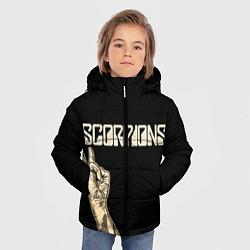 Куртка зимняя для мальчика Scorpions Rock цвета 3D-черный — фото 2