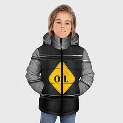 Куртка зимняя для мальчика Oil цвета 3D-черный — фото 2