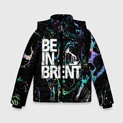 Детская зимняя куртка для мальчика с принтом Be in brent, цвет: 3D-черный, артикул: 10134592706063 — фото 1