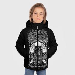 Куртка зимняя для мальчика Amon Amarth: Trio Skulls цвета 3D-черный — фото 2
