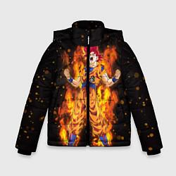 Куртка зимняя для мальчика Fire Goku цвета 3D-черный — фото 1