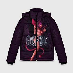 Куртка зимняя для мальчика AC/DC: Devil Girl цвета 3D-черный — фото 1