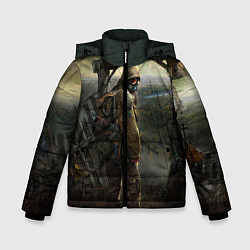 Детская зимняя куртка для мальчика с принтом STALKER: Call of Pripyat, цвет: 3D-черный, артикул: 10135203906063 — фото 1