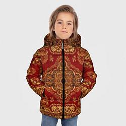 Куртка зимняя для мальчика Человек-ковер цвета 3D-черный — фото 2