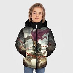 Куртка зимняя для мальчика Darksiders Warrior цвета 3D-черный — фото 2