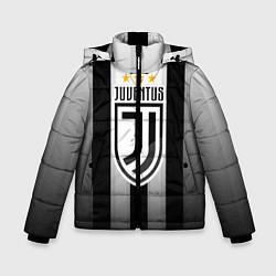 Куртка зимняя для мальчика Juventus FC: New logo цвета 3D-черный — фото 1
