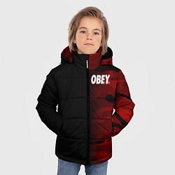 Куртка зимняя для мальчика Obey Military Black Red цвета 3D-черный — фото 2