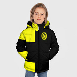 Куртка зимняя для мальчика BVB FC: Black style цвета 3D-черный — фото 2