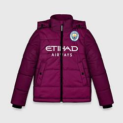 Детская зимняя куртка для мальчика с принтом Man City FC: Away 17/18, цвет: 3D-черный, артикул: 10137896106063 — фото 1