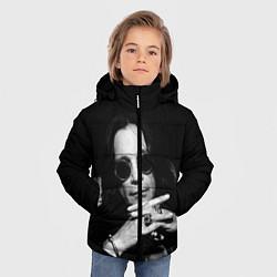 Детская зимняя куртка для мальчика с принтом Оззи Осборн, цвет: 3D-черный, артикул: 10138077306063 — фото 2