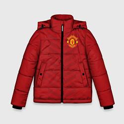 Куртка зимняя для мальчика Manchester United: Red Lines цвета 3D-черный — фото 1