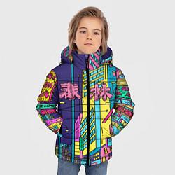 Куртка зимняя для мальчика Токио сити цвета 3D-черный — фото 2
