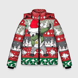 Куртка зимняя для мальчика Panda Dab: Xmas цвета 3D-черный — фото 1
