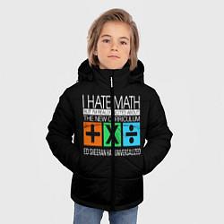 Куртка зимняя для мальчика Ed Sheeran: I hate math цвета 3D-черный — фото 2