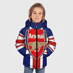 Куртка зимняя для мальчика FC Arsenal: England цвета 3D-черный — фото 2