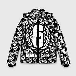 Куртка зимняя для мальчика Rainbow Six: Champion White цвета 3D-черный — фото 1