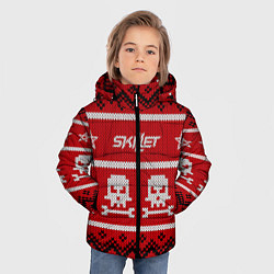 Куртка зимняя для мальчика Skillet: New Year цвета 3D-черный — фото 2