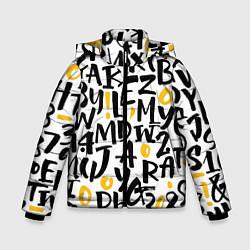 Куртка зимняя для мальчика Letters bombing цвета 3D-черный — фото 1