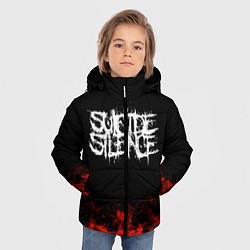 Куртка зимняя для мальчика Suicide Silence: Red Flame цвета 3D-черный — фото 2