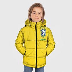 Детская зимняя куртка для мальчика с принтом Сборная Бразилии, цвет: 3D-черный, артикул: 10143141106063 — фото 2