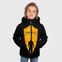 Куртка зимняя для мальчика Dark Souls: Orange Light цвета 3D-черный — фото 2