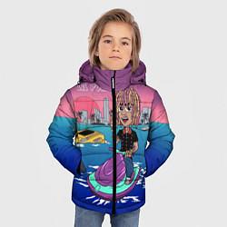 Куртка зимняя для мальчика Lil Pump on the water цвета 3D-черный — фото 2