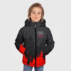 Куртка зимняя для мальчика Audi: Tricolor цвета 3D-черный — фото 2