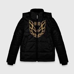 Куртка зимняя для мальчика Khabib: Gold Eagle цвета 3D-черный — фото 1