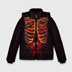 Куртка зимняя для мальчика Человеческий скелет цвета 3D-черный — фото 1