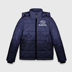 Куртка зимняя для мальчика Subaru: Night City цвета 3D-черный — фото 1