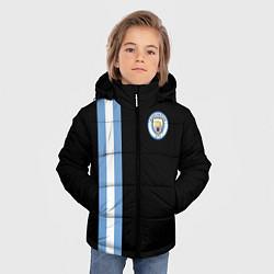 Детская зимняя куртка для мальчика с принтом Манчестер Сити, цвет: 3D-черный, артикул: 10147107706063 — фото 2