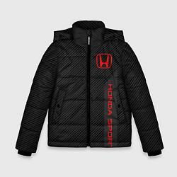 Куртка зимняя для мальчика Honda: Sport Line цвета 3D-черный — фото 1