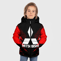 Куртка зимняя для мальчика Mitsubishi: Red Anger цвета 3D-черный — фото 2