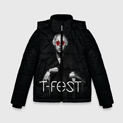 Детская зимняя куртка для мальчика с принтом T-Fest: Black Style, цвет: 3D-черный, артикул: 10147368106063 — фото 1