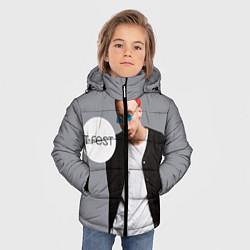 Куртка зимняя для мальчика T-Fest: Grey Style цвета 3D-черный — фото 2