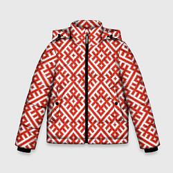 Куртка зимняя для мальчика Обережная вышивка цвета 3D-черный — фото 1