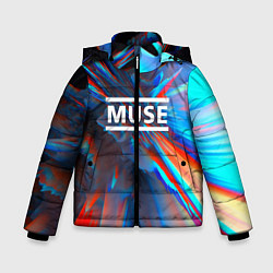 Куртка зимняя для мальчика Muse: Colour Abstract - фото 1