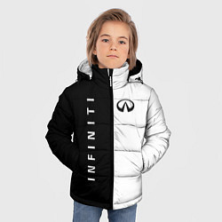 Куртка зимняя для мальчика Infiniti: Black & White цвета 3D-черный — фото 2