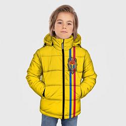 Куртка зимняя для мальчика Молдавия: лента с гербом цвета 3D-черный — фото 2