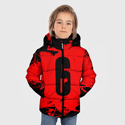 Куртка зимняя для мальчика R6S: Red Outbreak цвета 3D-черный — фото 2