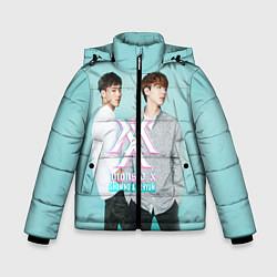 Детская зимняя куртка для мальчика с принтом Shownu & Kihyun, цвет: 3D-черный, артикул: 10150036506063 — фото 1